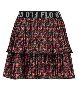 Like Flo shiny jersey plissé skirt flower Y002-5720