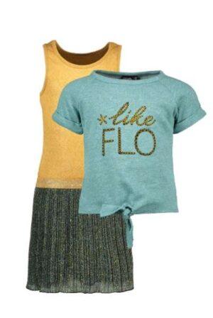 Like Flo 2 deluge jurk plissé met sweat top Y002-5814