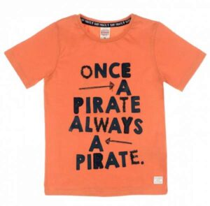 Sturdy jongens t-shirt once a pirate oranje