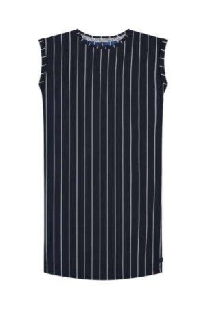 Levv meisjes jurk Farnia dark navy white stripe