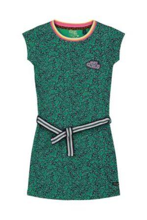 Quapi meisjes jurk Aafje jungle green leopard