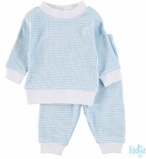 Feetje baby wafel pyjama azuur