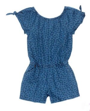 Jubel meisjes blue denim playsuit aop
