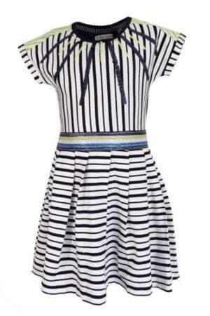 Topitm meisjes jurk Roos stripe viscose