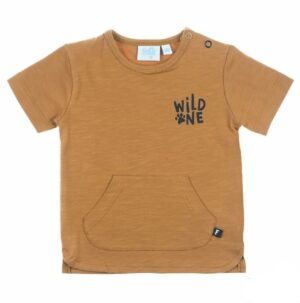Feetje baby jongens t-shirt Wild One camel