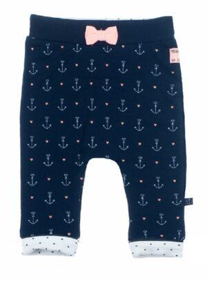 Feetje baby meisjes broek marine aop sailor girl