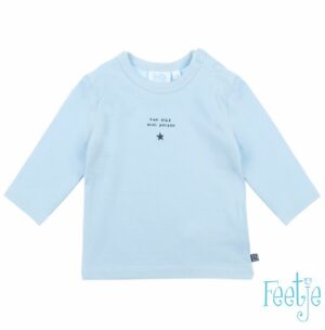 Feetje baby longsleeve Fun blauw mini person