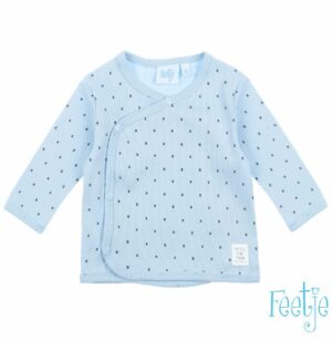 Feetje baby omslagshirt blauw mini person