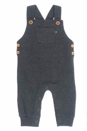 Feetje baby tuinbroek grijs mini person