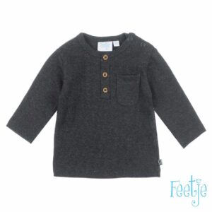 Feetje baby longsleeve antraciet mini person