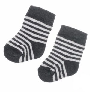 Feetje baby sokjes antraciet mini person