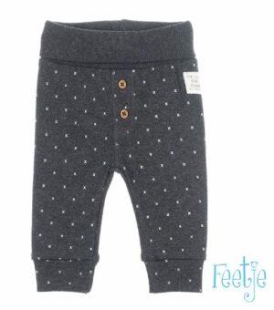 Feetje baby broekje antraciet patroon mini person