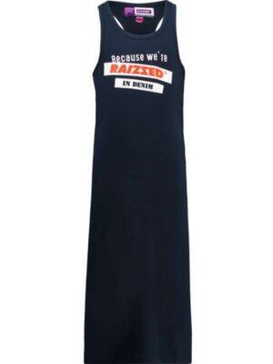 Raizzed meisjes lange jurk Minisota donkerblauw