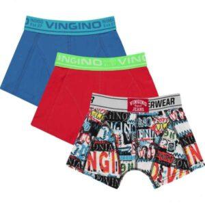 Vingino jongens boxershorts classic red