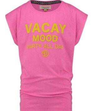 Vingino t-shirt Halinde neon pink