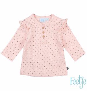 Feetje baby meisjes longsleeve dots aop roze
