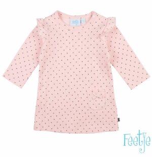 Feetje baby meisjes jurk dots roze