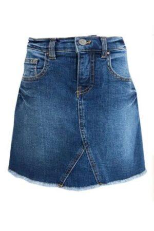 Topitm meisjes spijkerrok Elise blauw