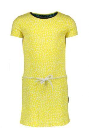 B.Nosy meisjes jurk dots lemon Y005-5841