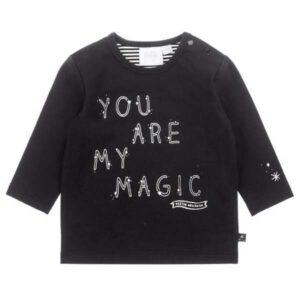 Feetje baby longsleeve my magic-Hello World zwart