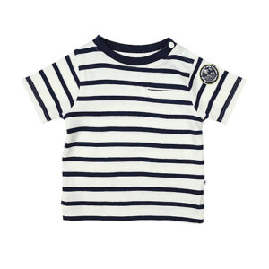 Ducky Beau baby t-shirt navy stripe