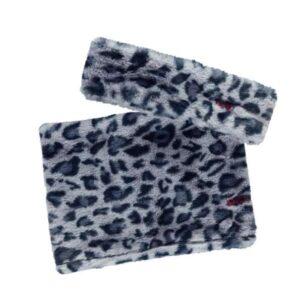 B.Nosy meisjes fur sjaal en hoofdband blue panter