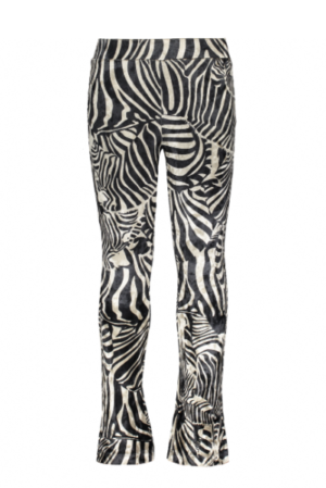 Like Flo velour flared pant zebra