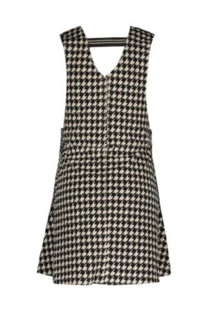 Like Flo meisjes neopreen strap dress pied de poule