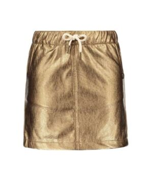 Like Flo metallic leather skirt bronz