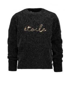 Moodstreet Chenille sweater zwart M009-5342-099