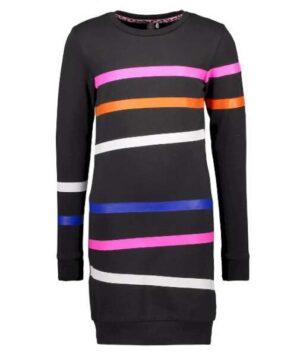 B.Nosy meisjes sweat jurk zwart Y008-5831