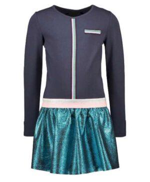 B.Nosy meisjes jurk oxford blue Y008-5842