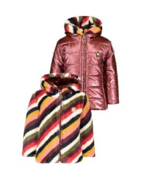 Like Flo baby winterjas stripe F008-7250