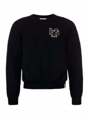 Looxs 10sixteen zwarte relief sweater