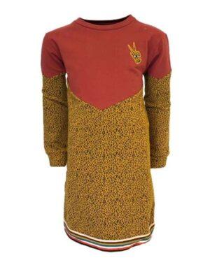 Topitm meisjes jurk Alea colourblock
