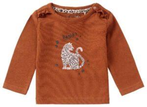 Noppies baby shirtje Roedtan rust