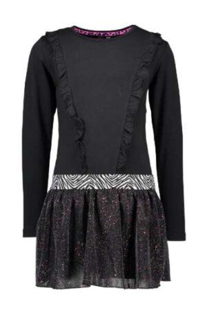 B.Nosy meisjes jurk black Y010-5803