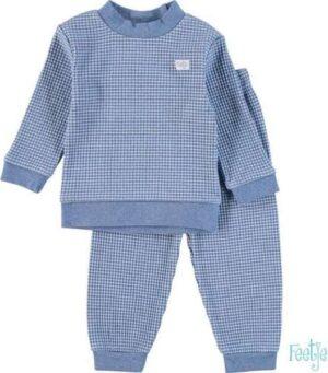 Feetje jongens wafel pyjama blauw