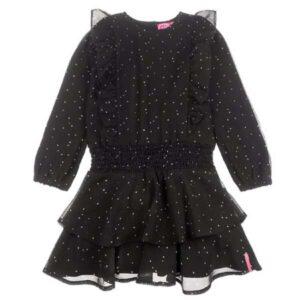 Jubel meisjes jurk voile zwart 914.00295