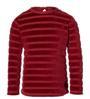 Levv meisjes longsleeve Liv dark red stripe