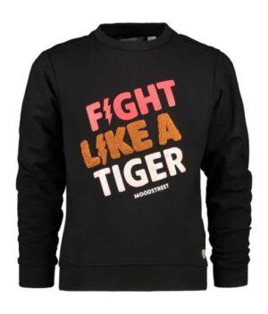 Moodstreet meisjes sweater M008-5331 zwart