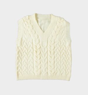 Exquiss's dames kabel Spencer off-white