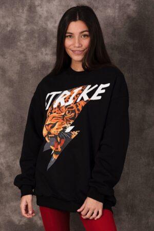 Adilynn dames sweater Strike zwart