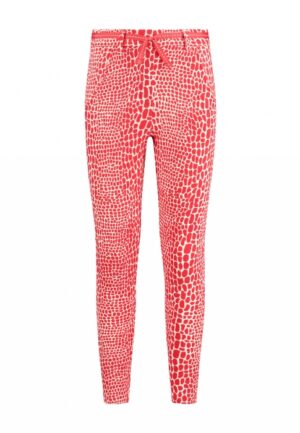Chaos and Order broek Suze rood print