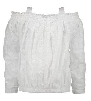 Moodstreet meisjes blouse wit M012-5120
