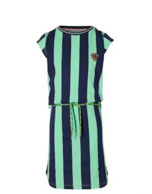 Quapi jurk dark blue stripe Fab S213