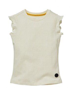 Levv meisjes t-shirt Nicci ecru wit streep