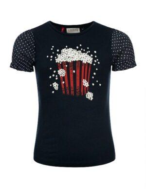 Looxs little t-shirt 2112-7483 popcorn blauw