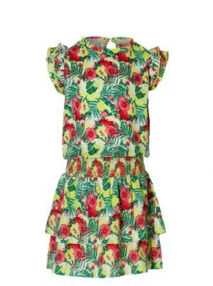 Quapi meisjes jurk Farelle multi color flower