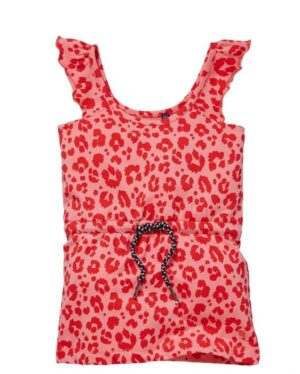 Quapi baby jurk Gera shell pink leopard